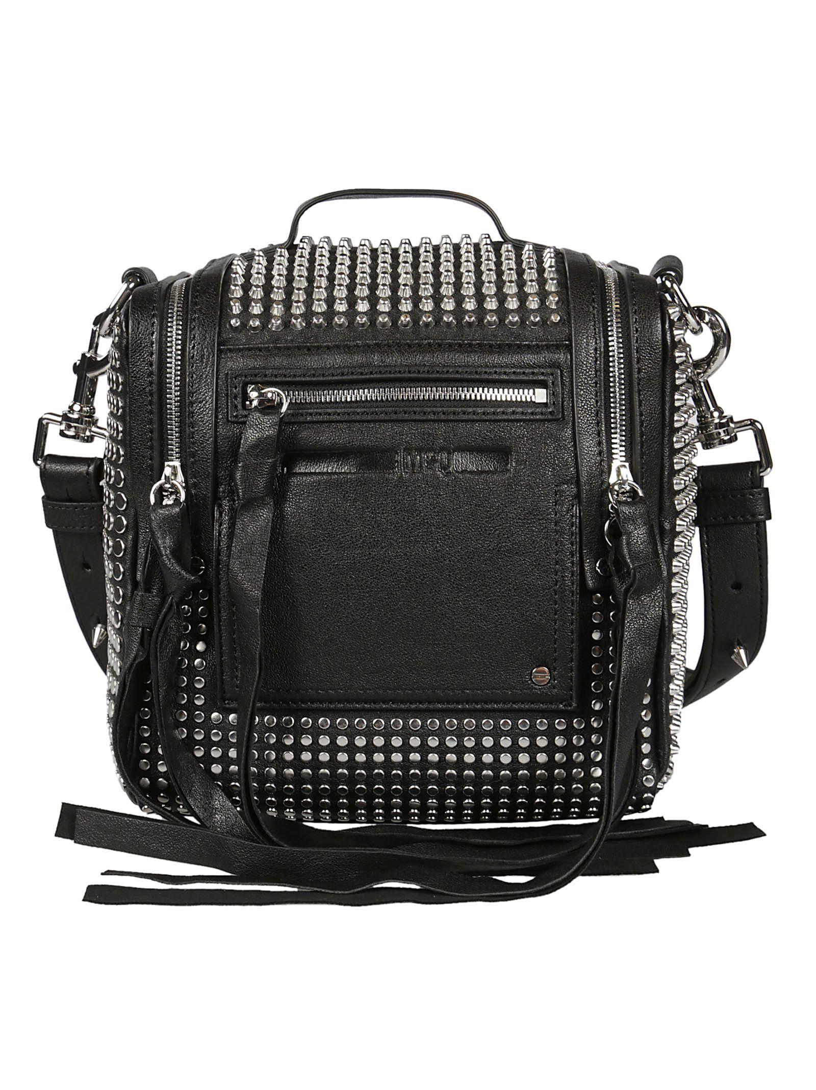 MCQ Alexander McQueen Mini Loveless 69 Studded Convertible Box Backpack