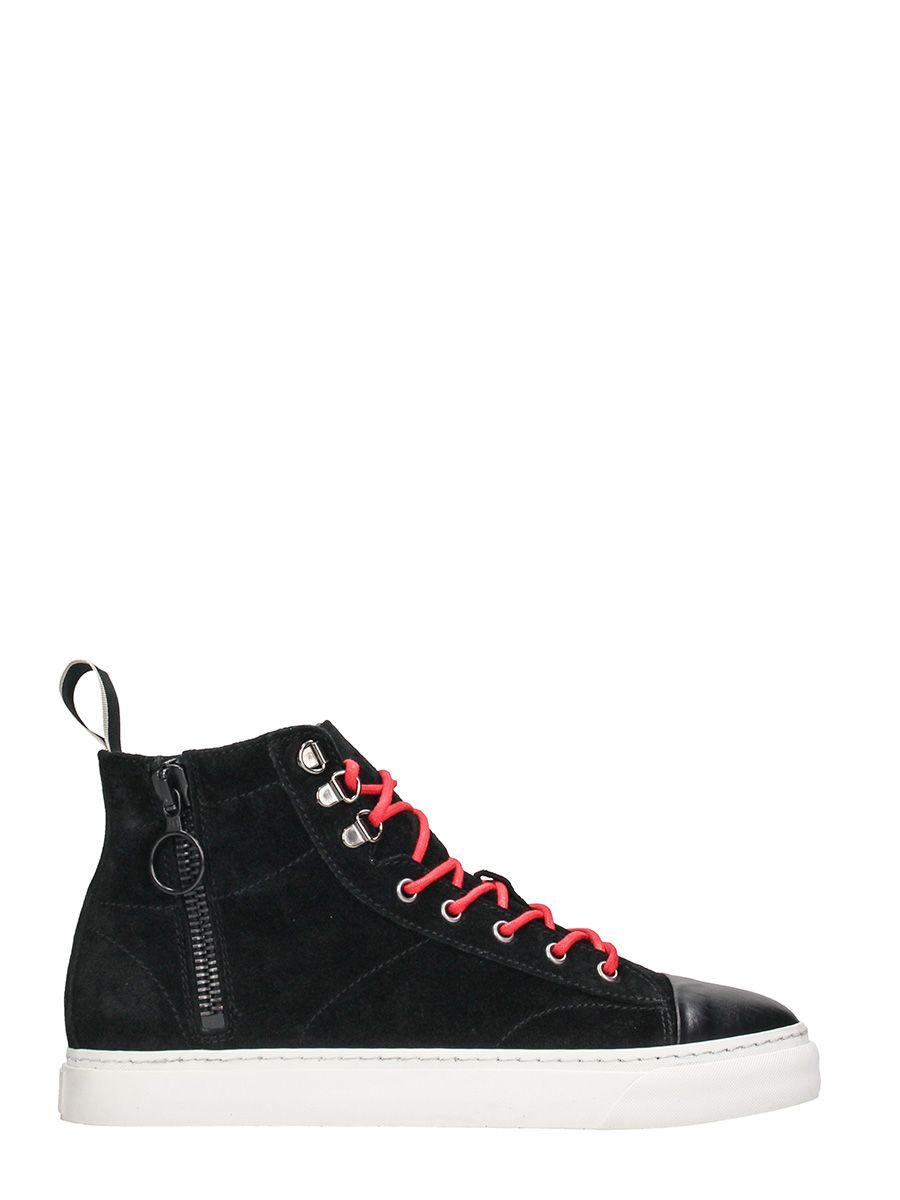 Low Brand Yojii Black Suede High Sneakers