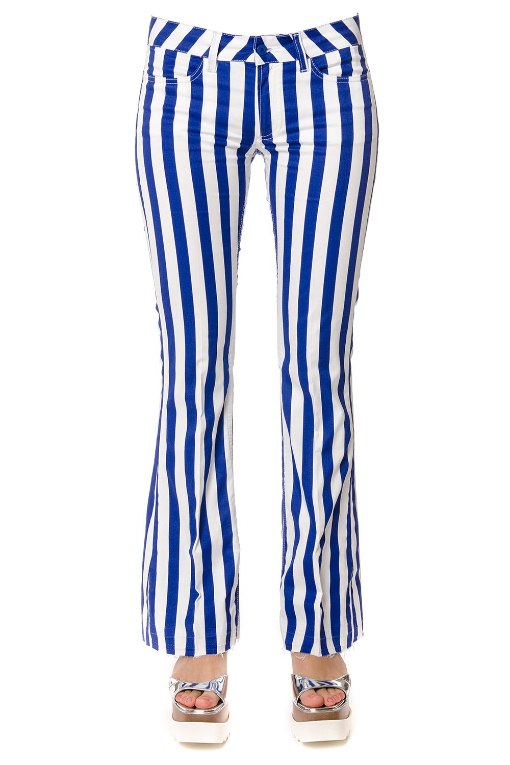 Dondup Striped Cotton Trousers