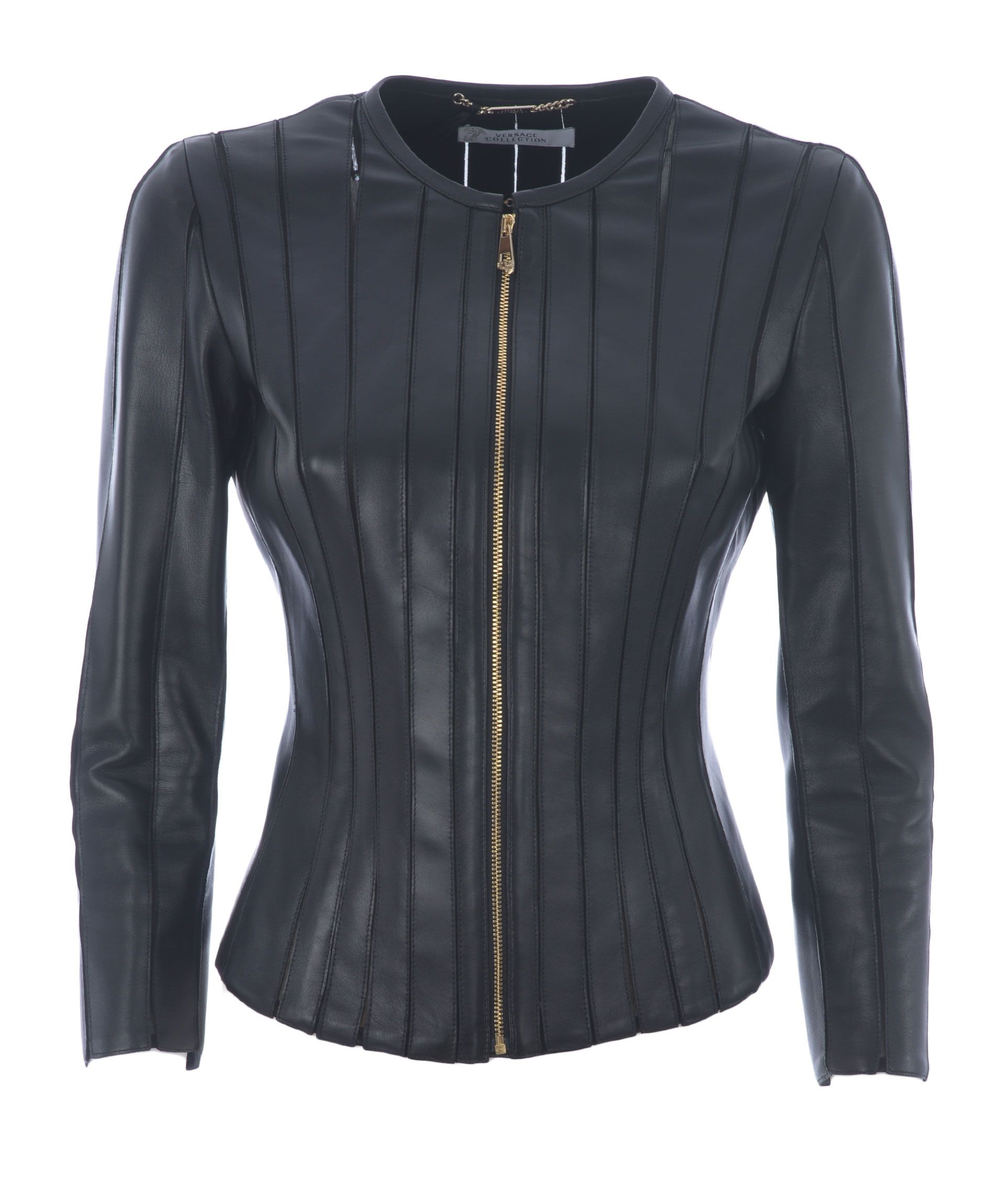 Versace Collection Panel Leather Jacket