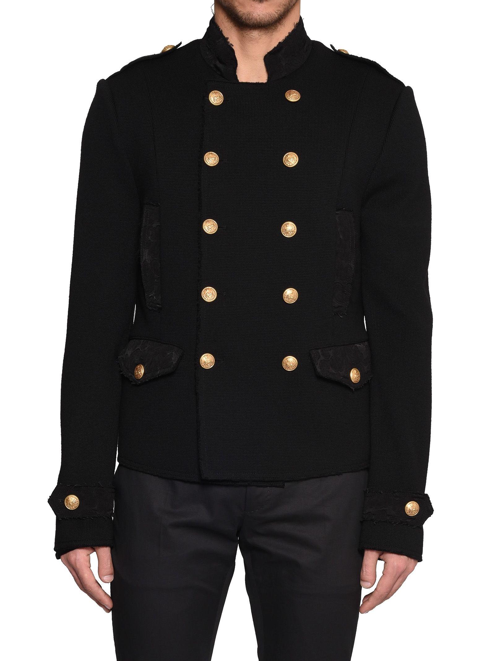 dolce gabbana dolce gabbana jacket black men 39 s jackets italist. Black Bedroom Furniture Sets. Home Design Ideas
