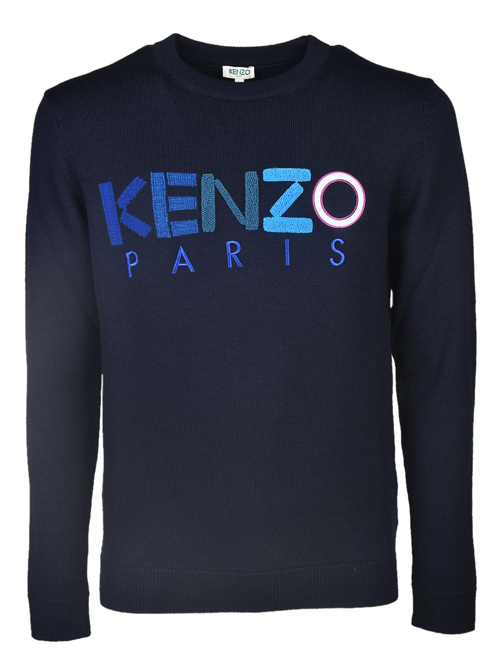 kenzo kenzo crewneck sweater blu men 39 s fleeces italist. Black Bedroom Furniture Sets. Home Design Ideas
