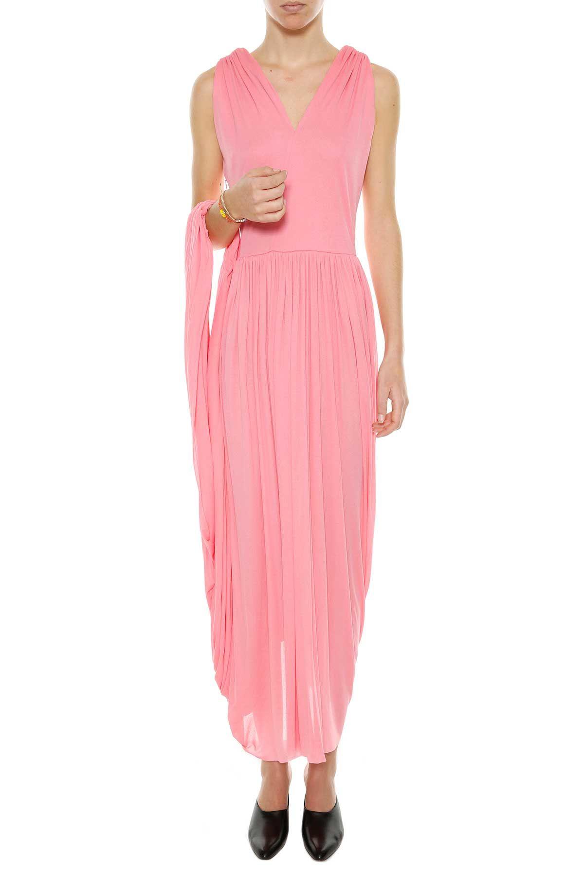 Celine Fluid Crepe Jersey Dress