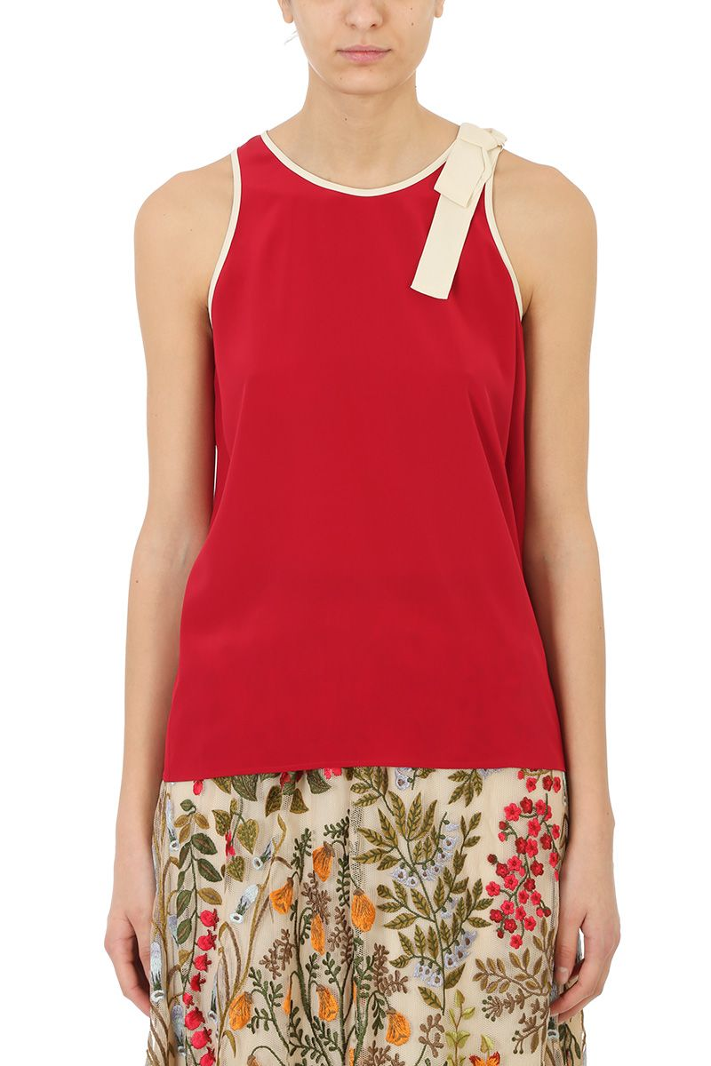 RED Valentino Lace Trim Tank Top