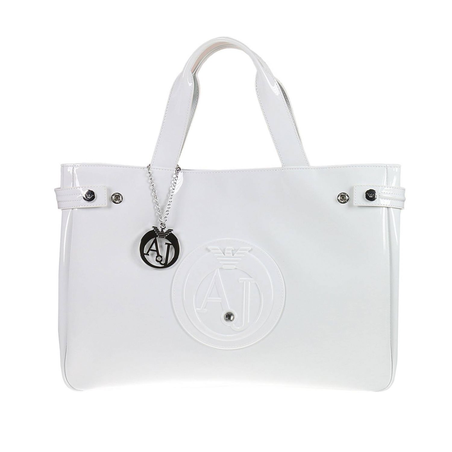 Handbag Patent Leather Classic Shopping Bag With Rhinest