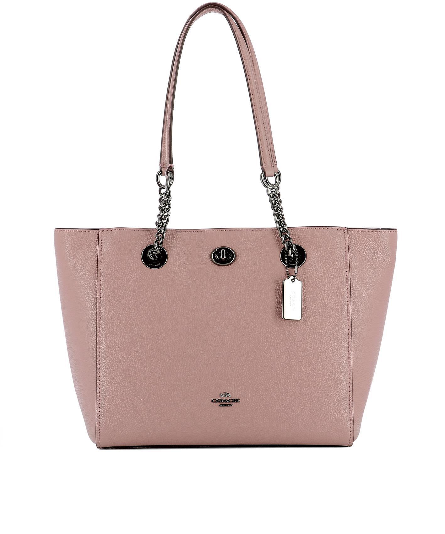 Pink Leather Shoulder Bag