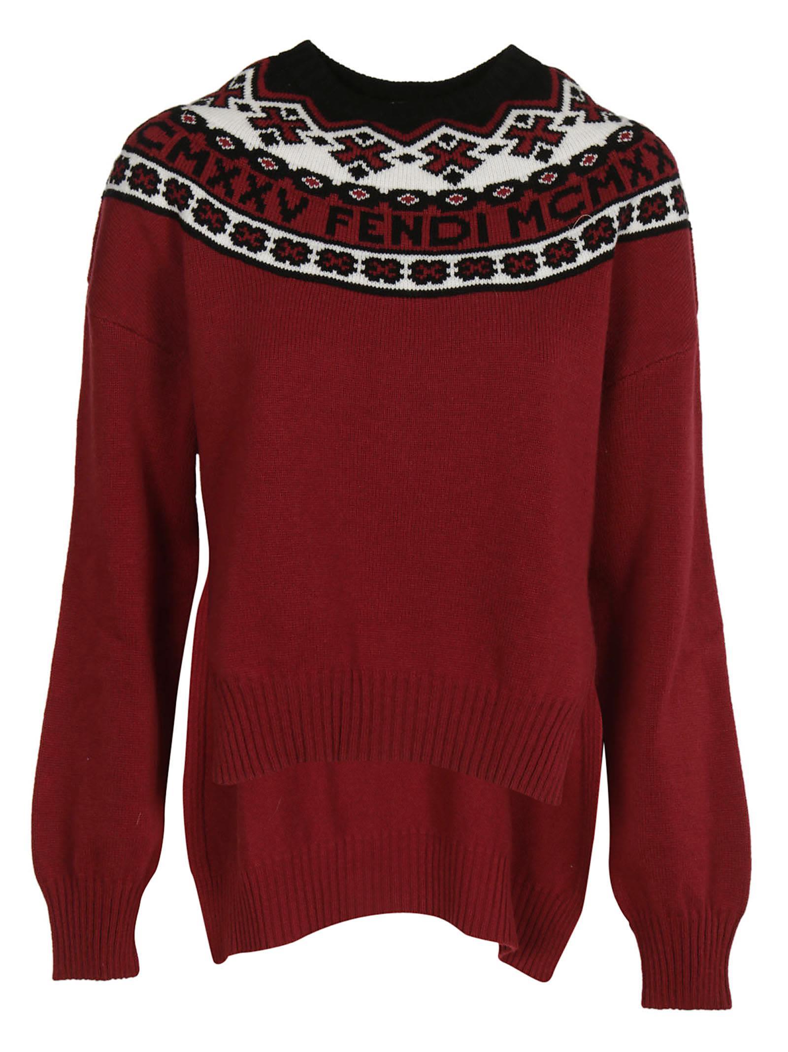 Fendi Nordic-embroidered Sweater