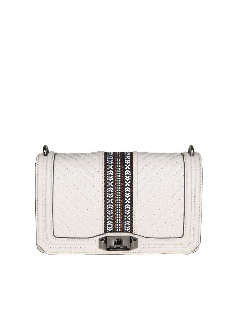 Rebecca Minkoff Bag Jacquard Love Crossbody Ice Color