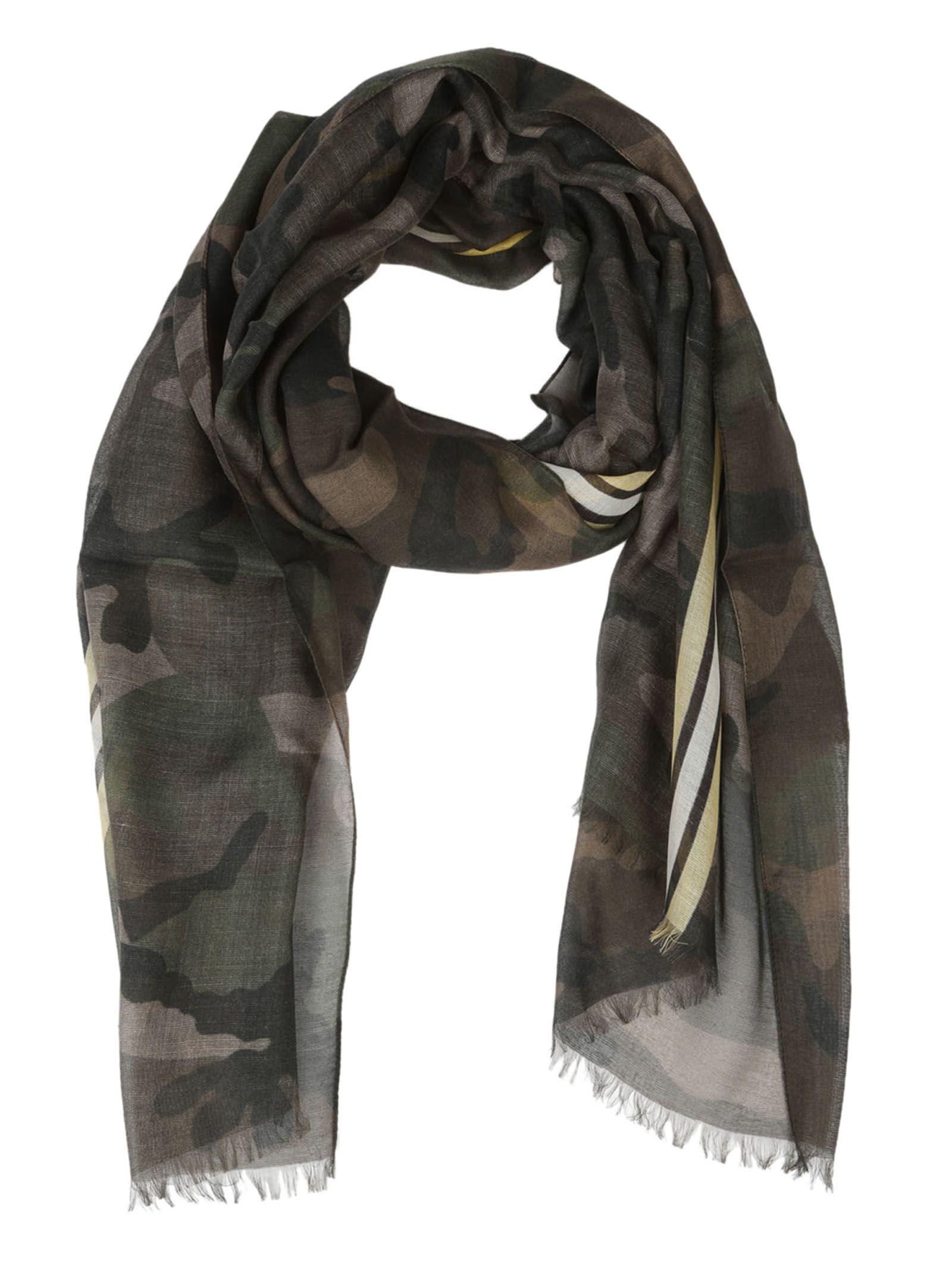 Valentino Army Camouflage Scarf