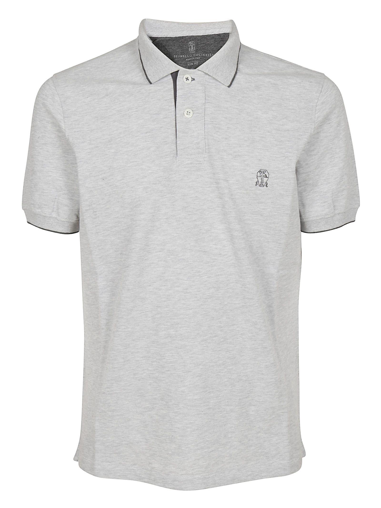 Brunello Cucinelli Brunello Cucinelli Contrast Detailing Polo Shirt