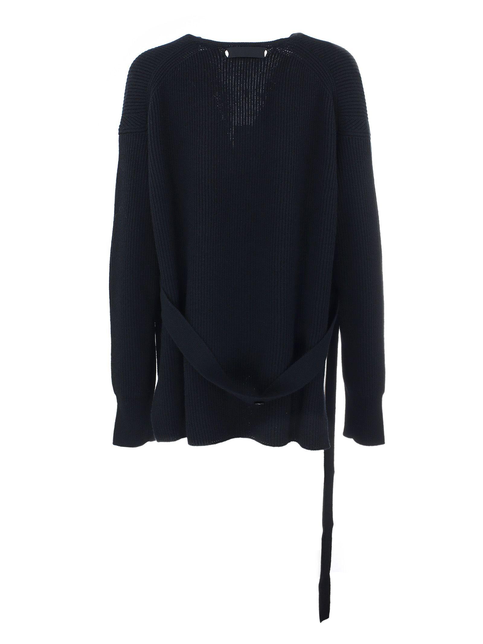 Helmut Lang - Helmut Lang Wrap Cardigan - Black, Women's Sweaters ...