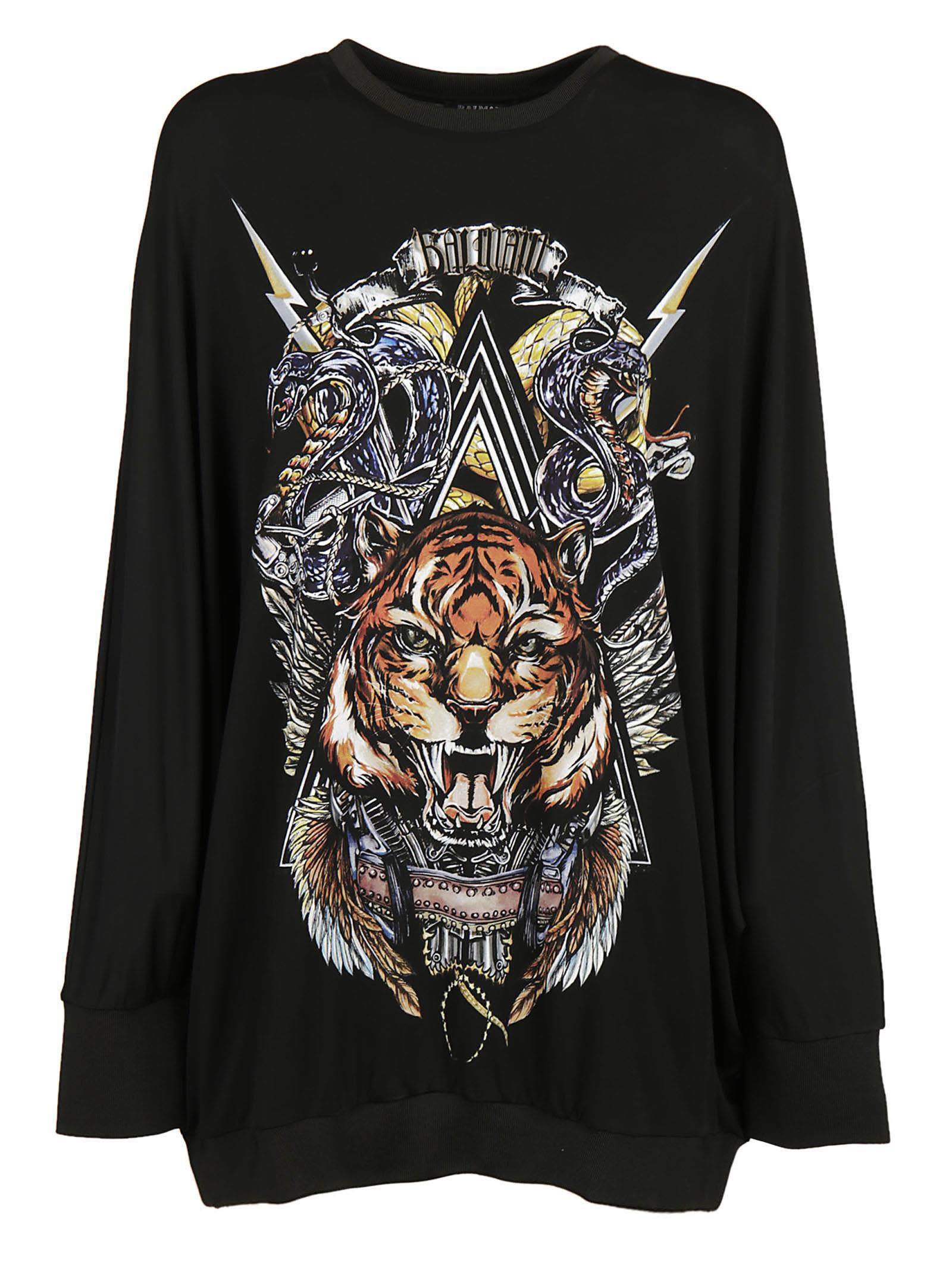 Balmain Tiger Print Sweater