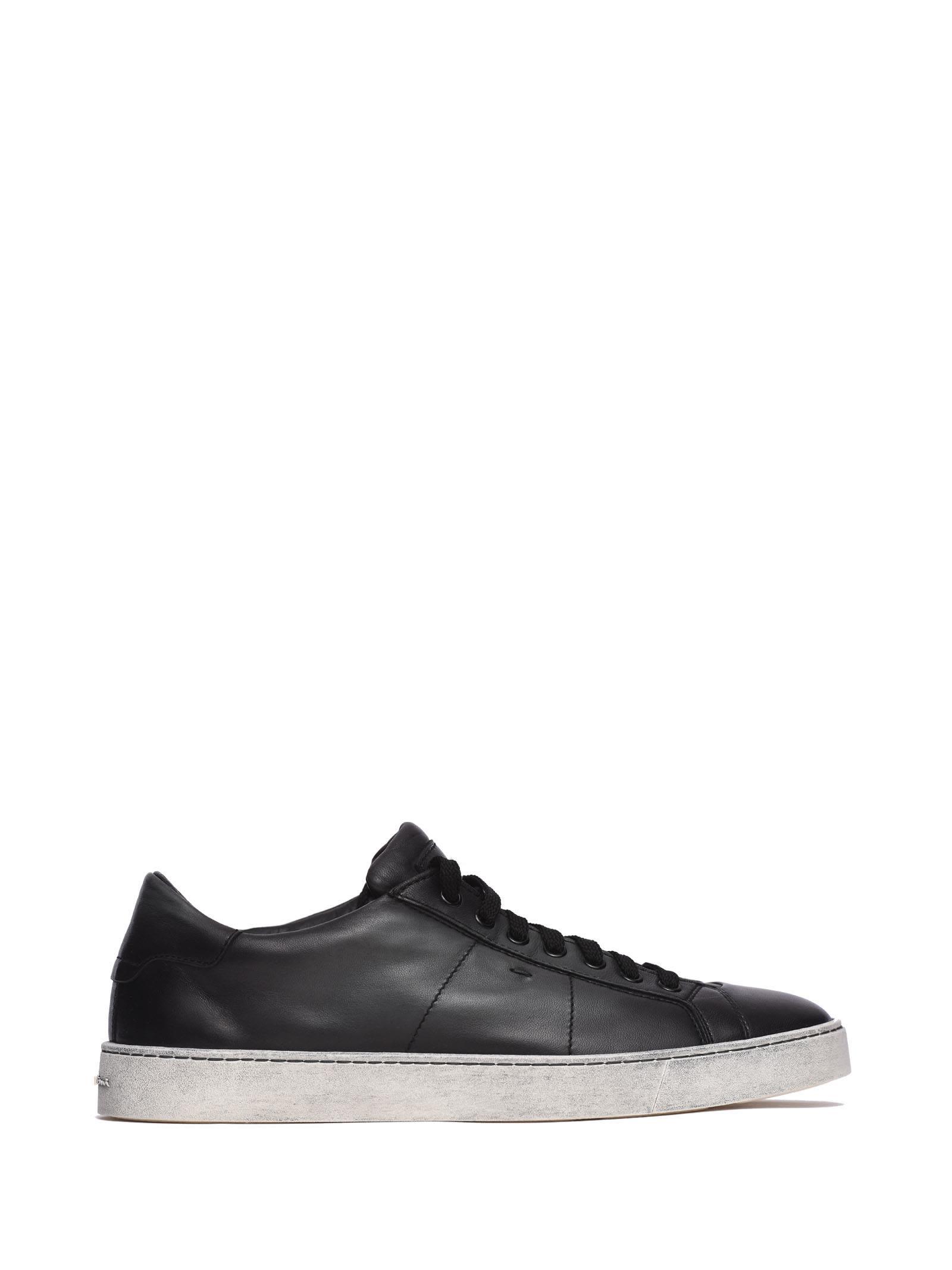 Santoni Nappa Sneakers Black