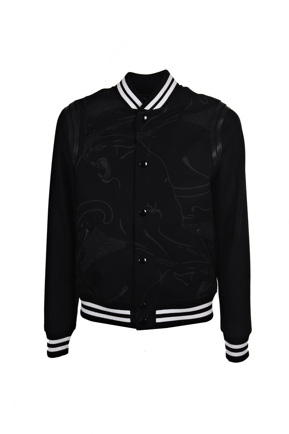 VALENTINO Panther Print Bomber in Black
