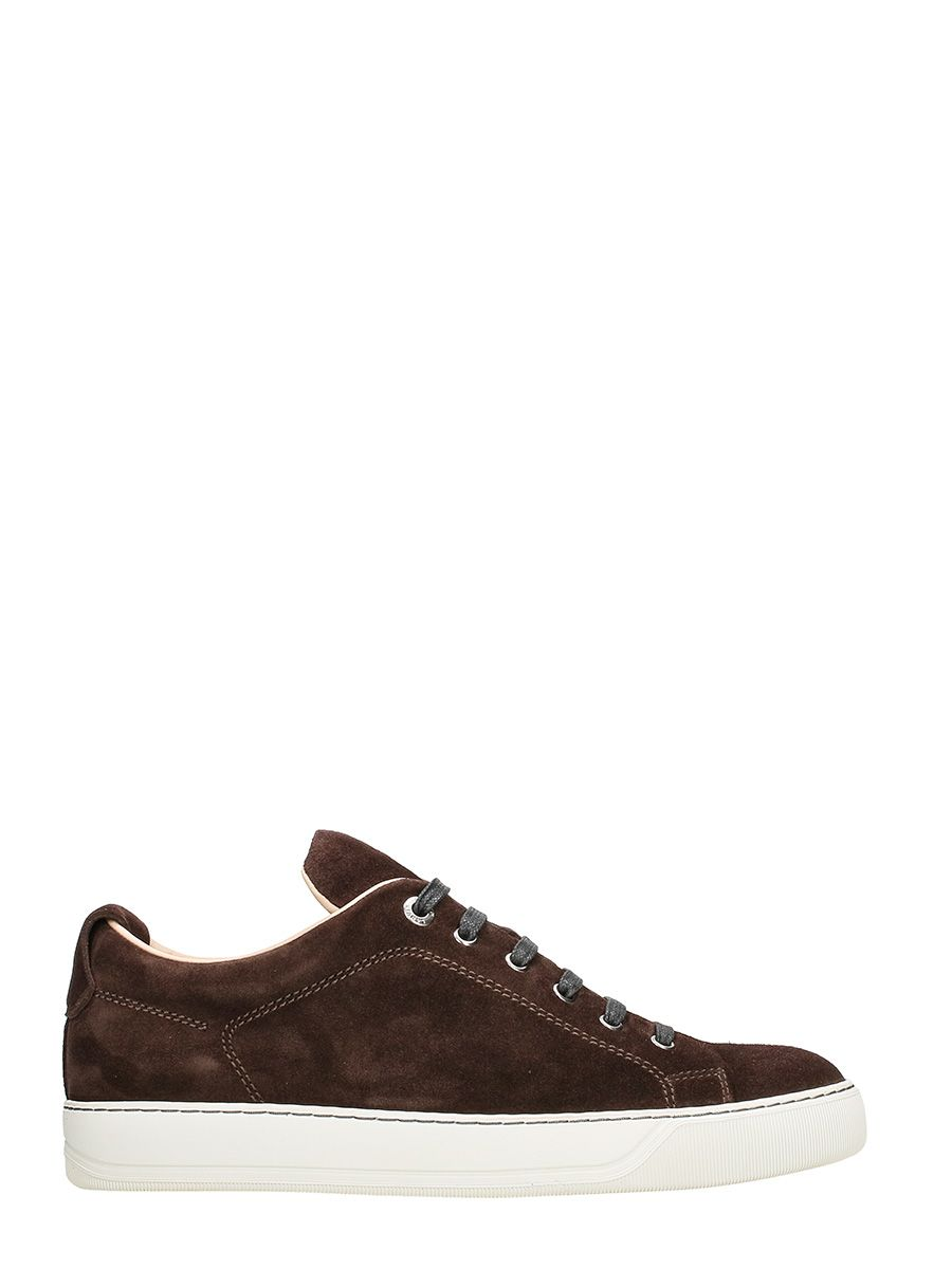 Lanvin Low Garnet Suede Sneakers