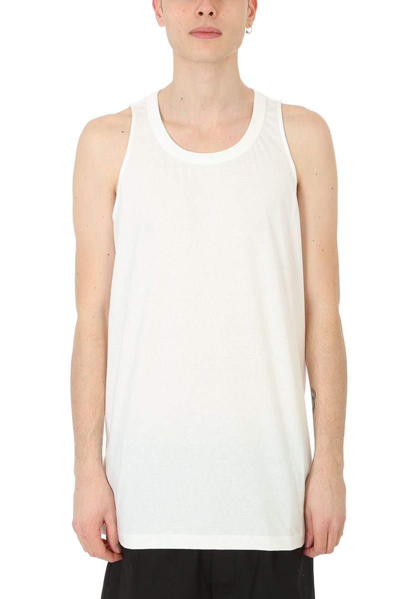 Rick Owens White Cotton Tank Top