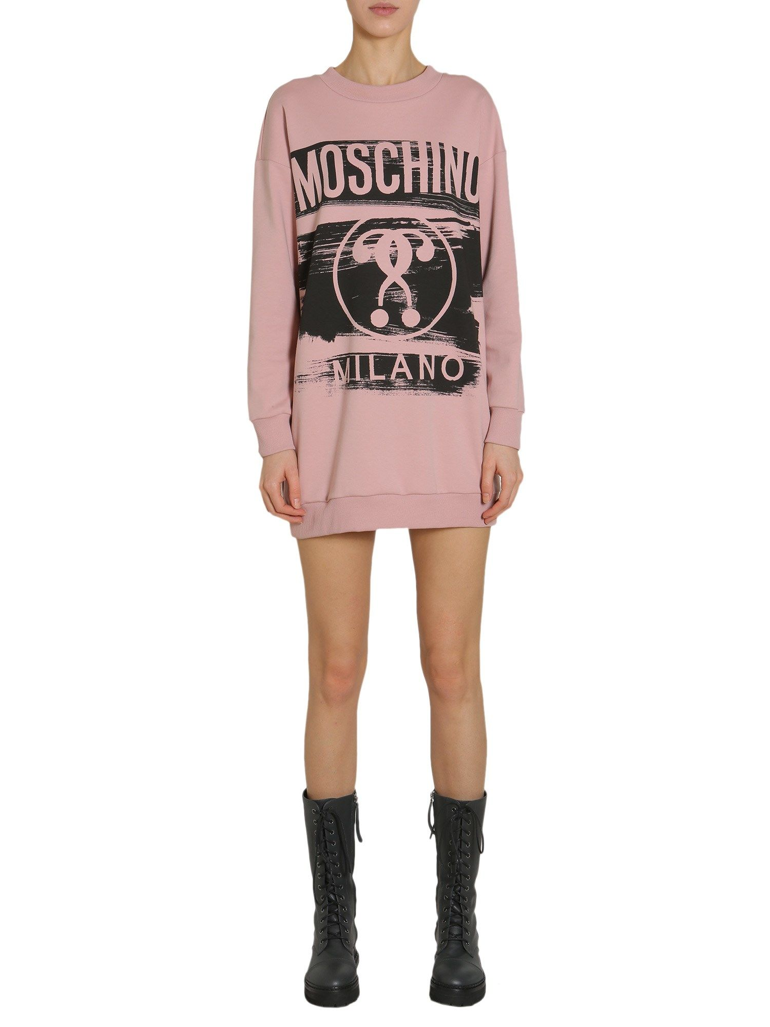 Sweatshirt Dress With Logo
