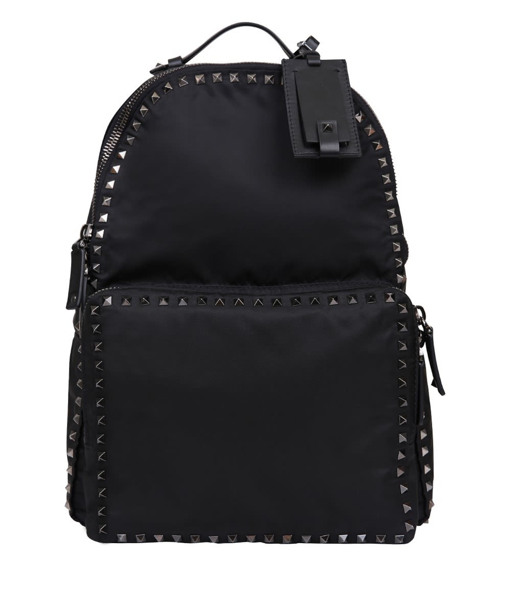 Valentino Garavani Rockstud Nylon Backpack