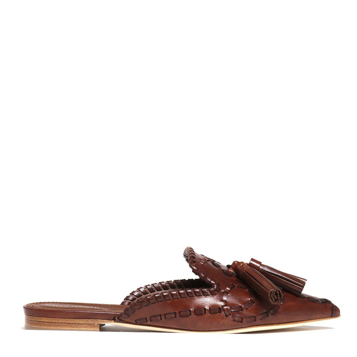 Alberta Ferretti Tassel Detail Slippers