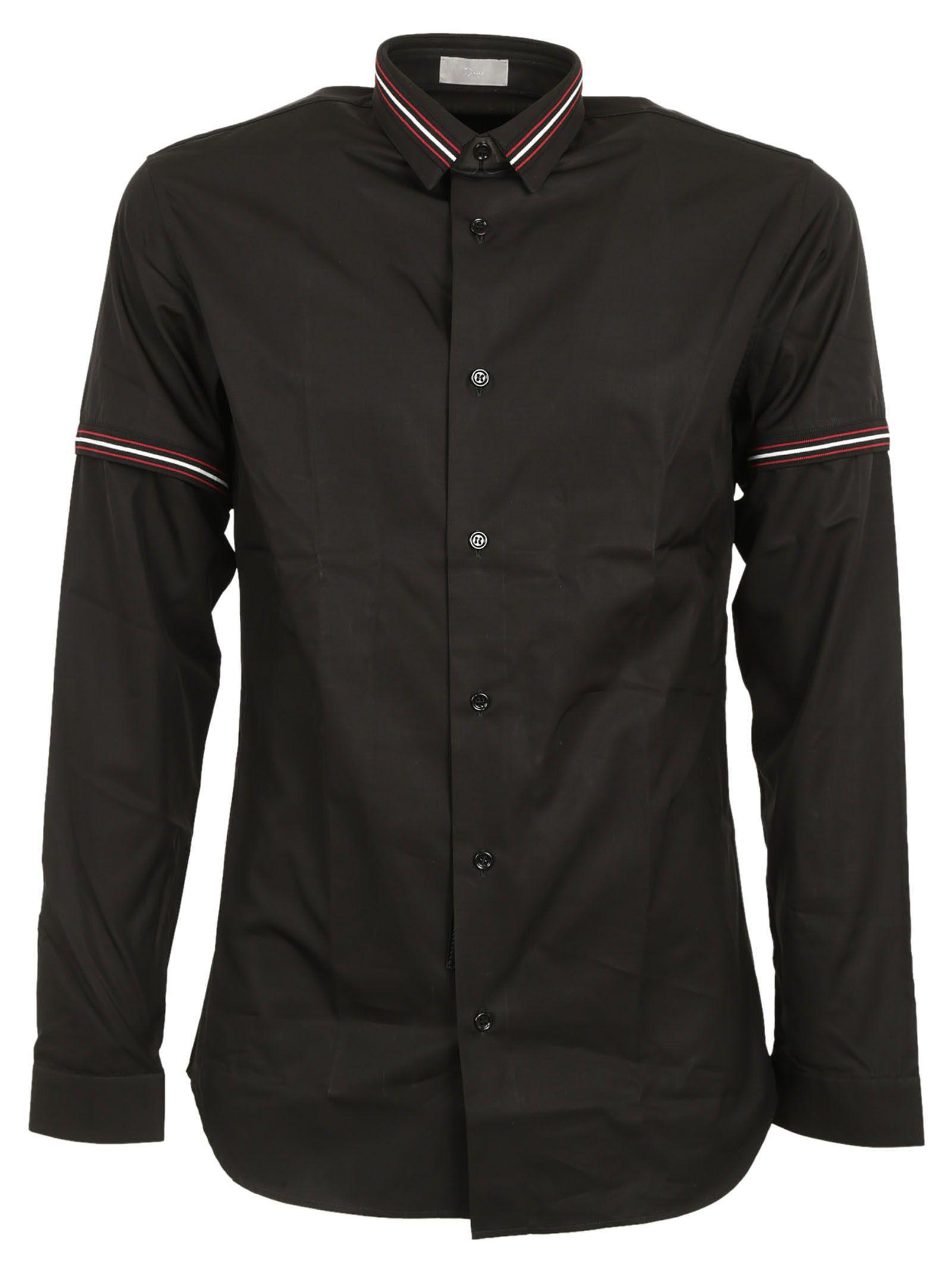 Dior Homme Striped Collar Shirt