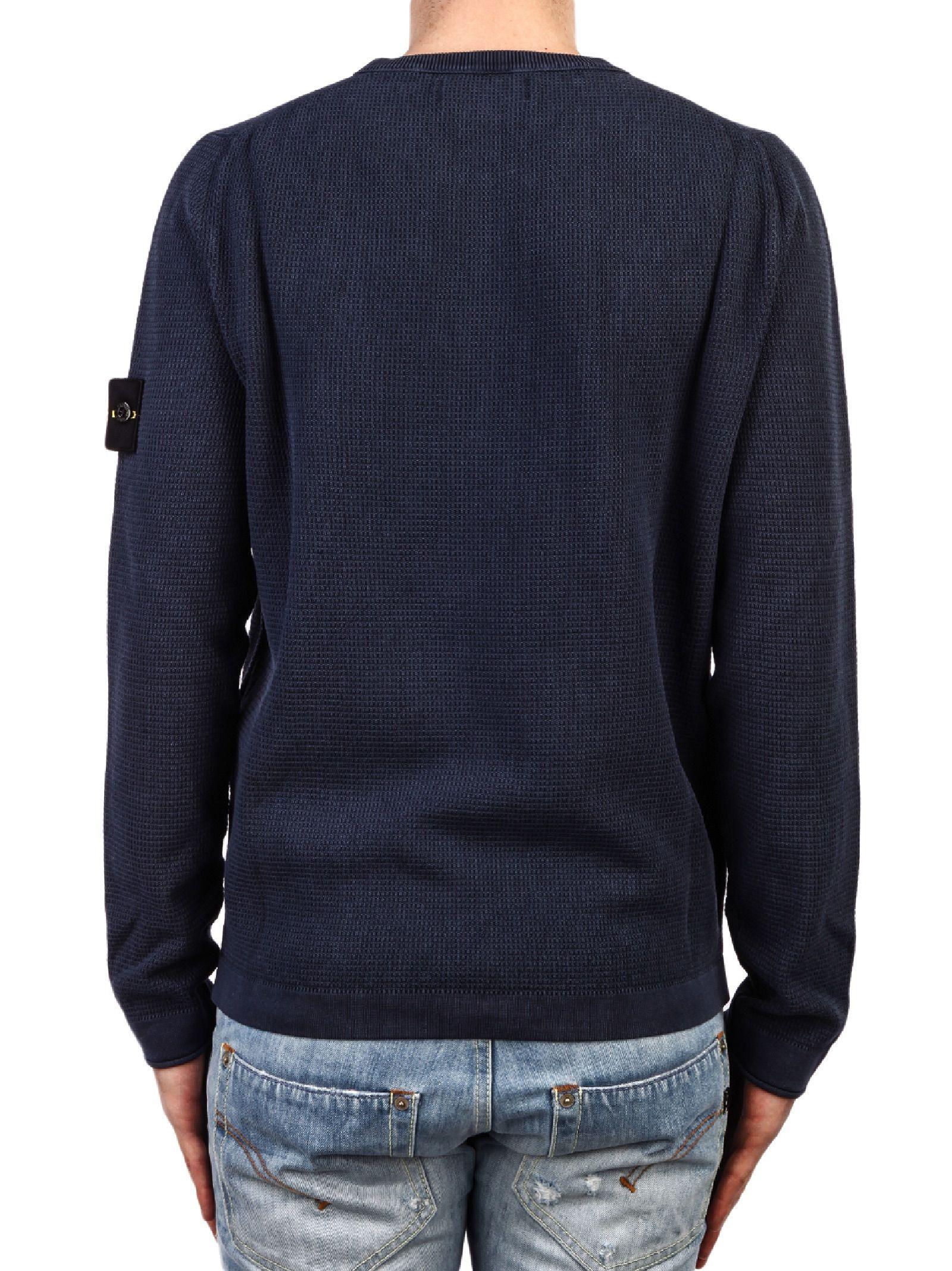 stone island stone island t co frost sweater blue men 39 s sweaters italist. Black Bedroom Furniture Sets. Home Design Ideas