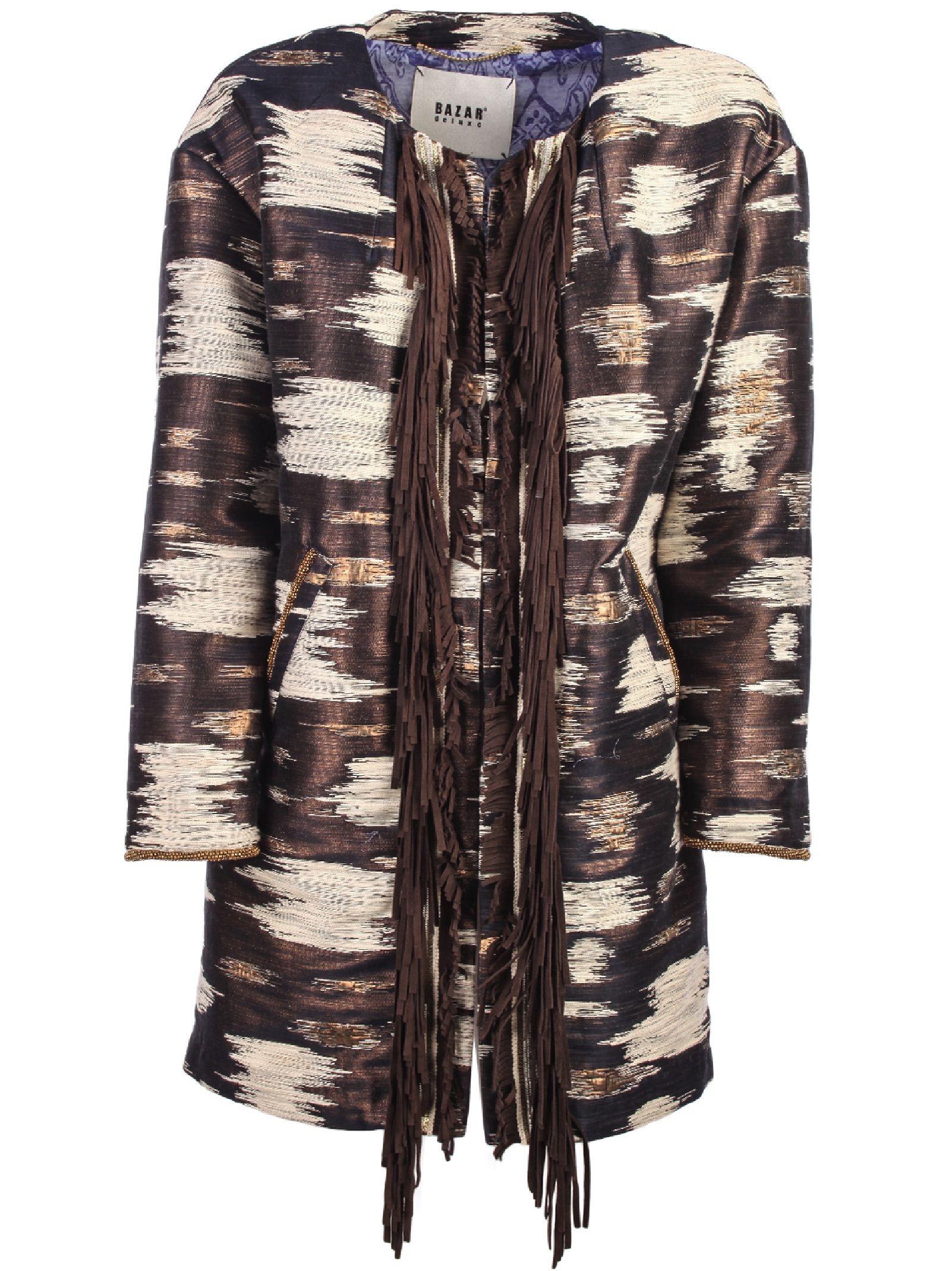 Bazar Deluxe Front Fringed Coat