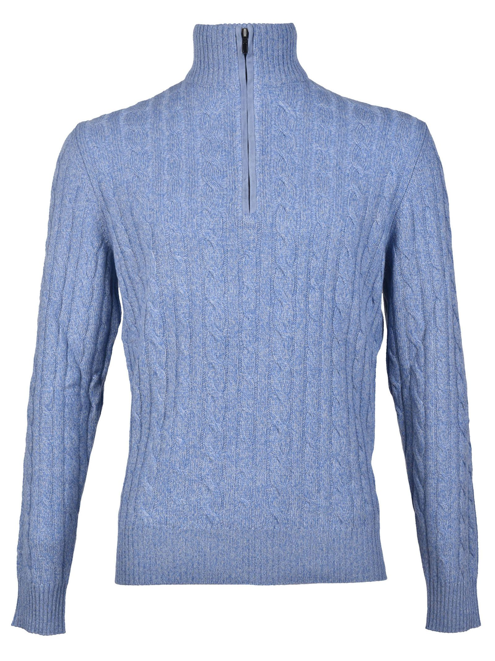 Loro Piana - Loro Piana Braid Sweater - Sky Blue, Men's Sweaters ...