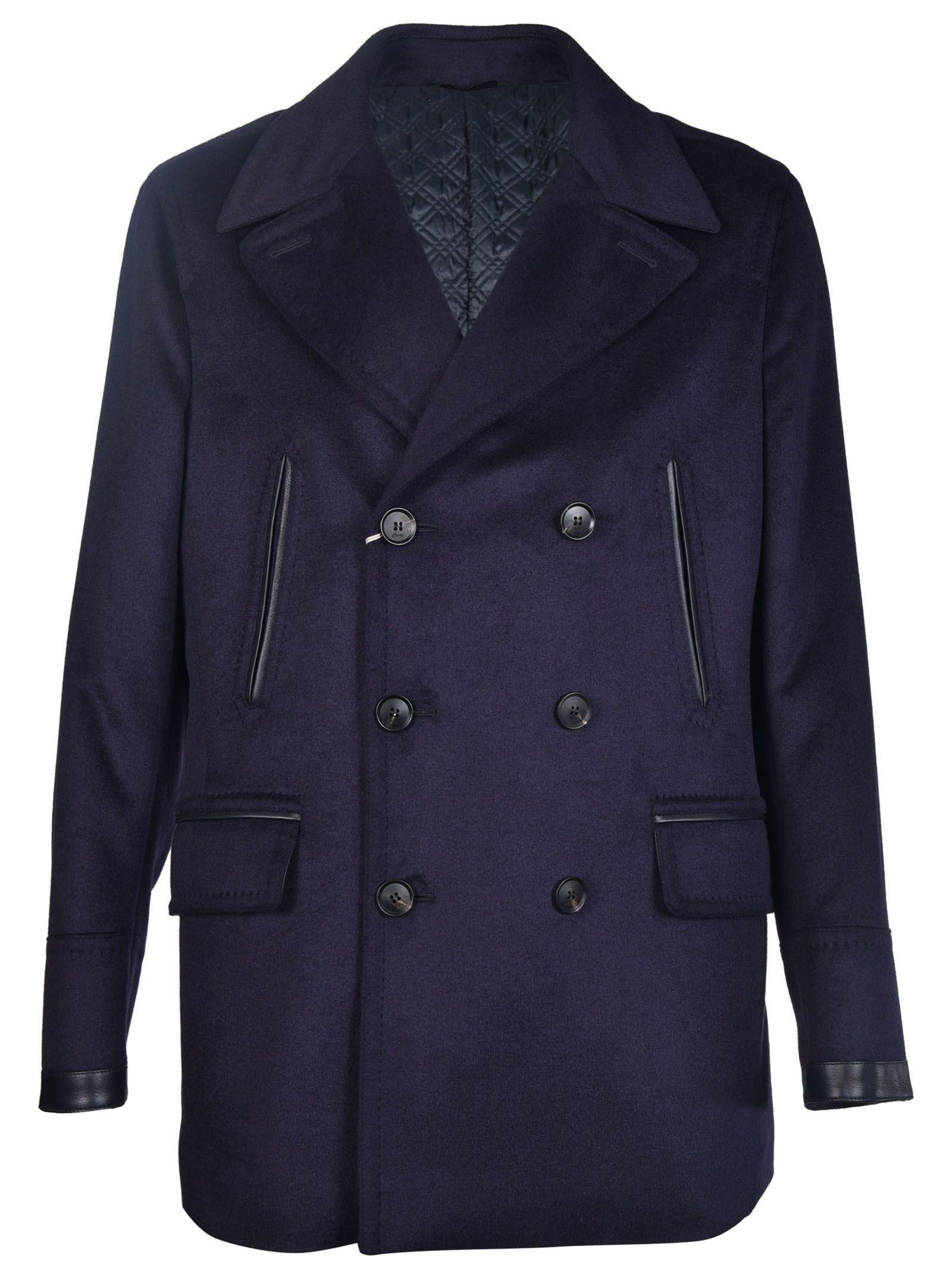 Brioni Double-Breasted Pea Coat