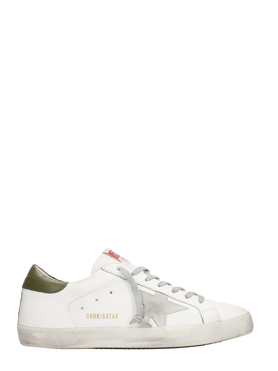 Golden Goose Superstar White Green Sneakers