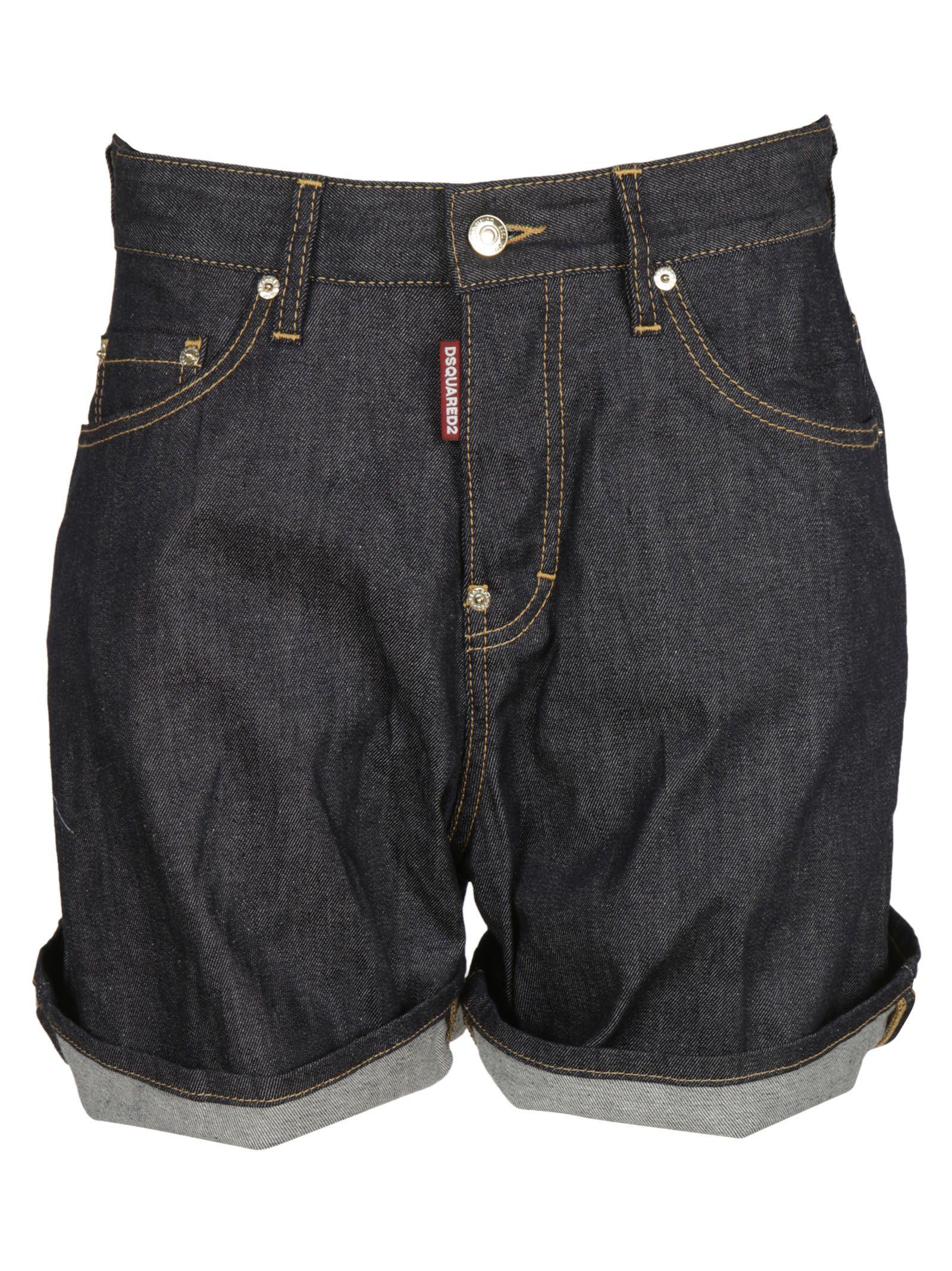 Dsquared2 Oversized Denim Shorts