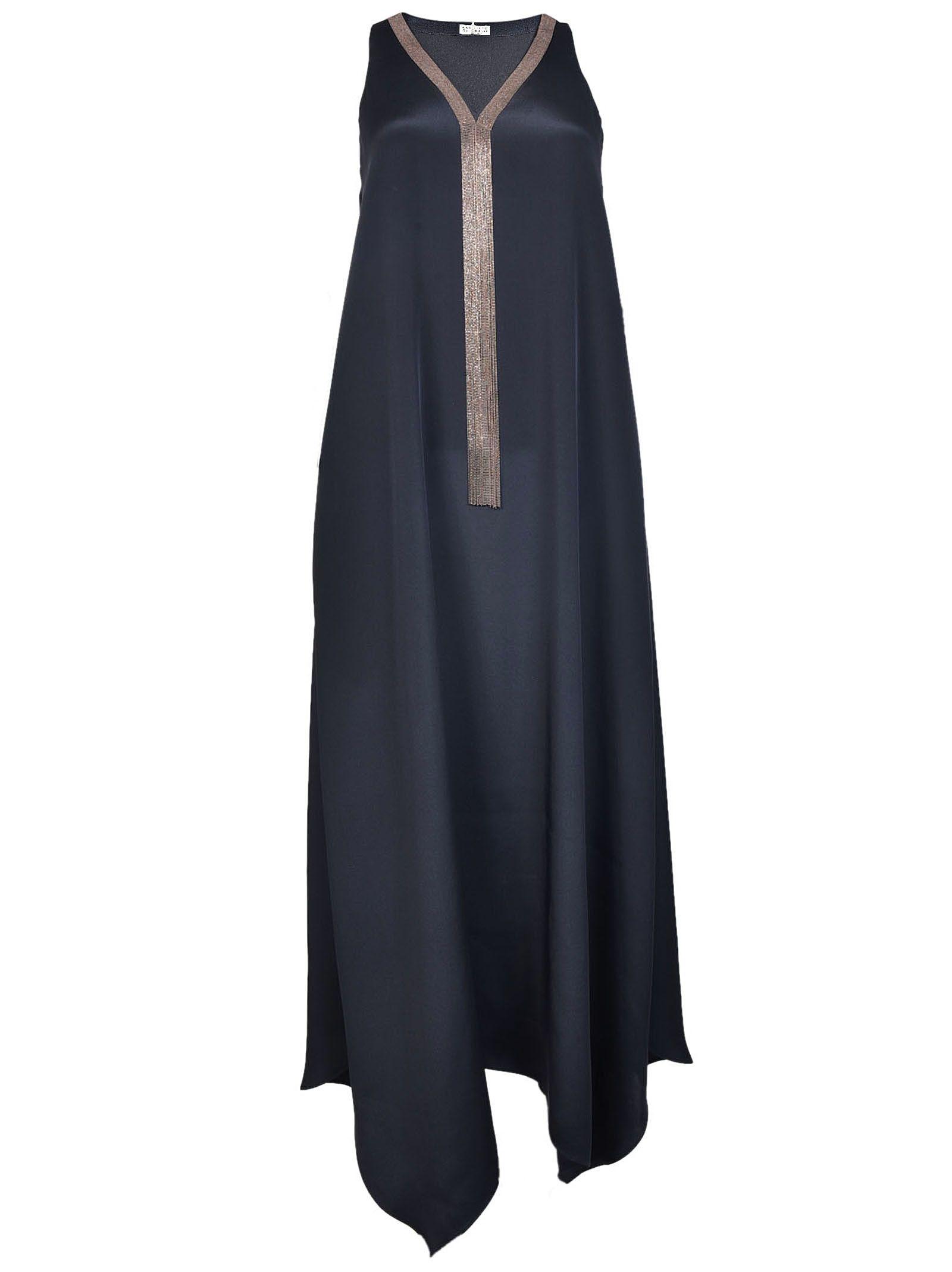 Brunello Cucinelli V-neck Maxi Dress