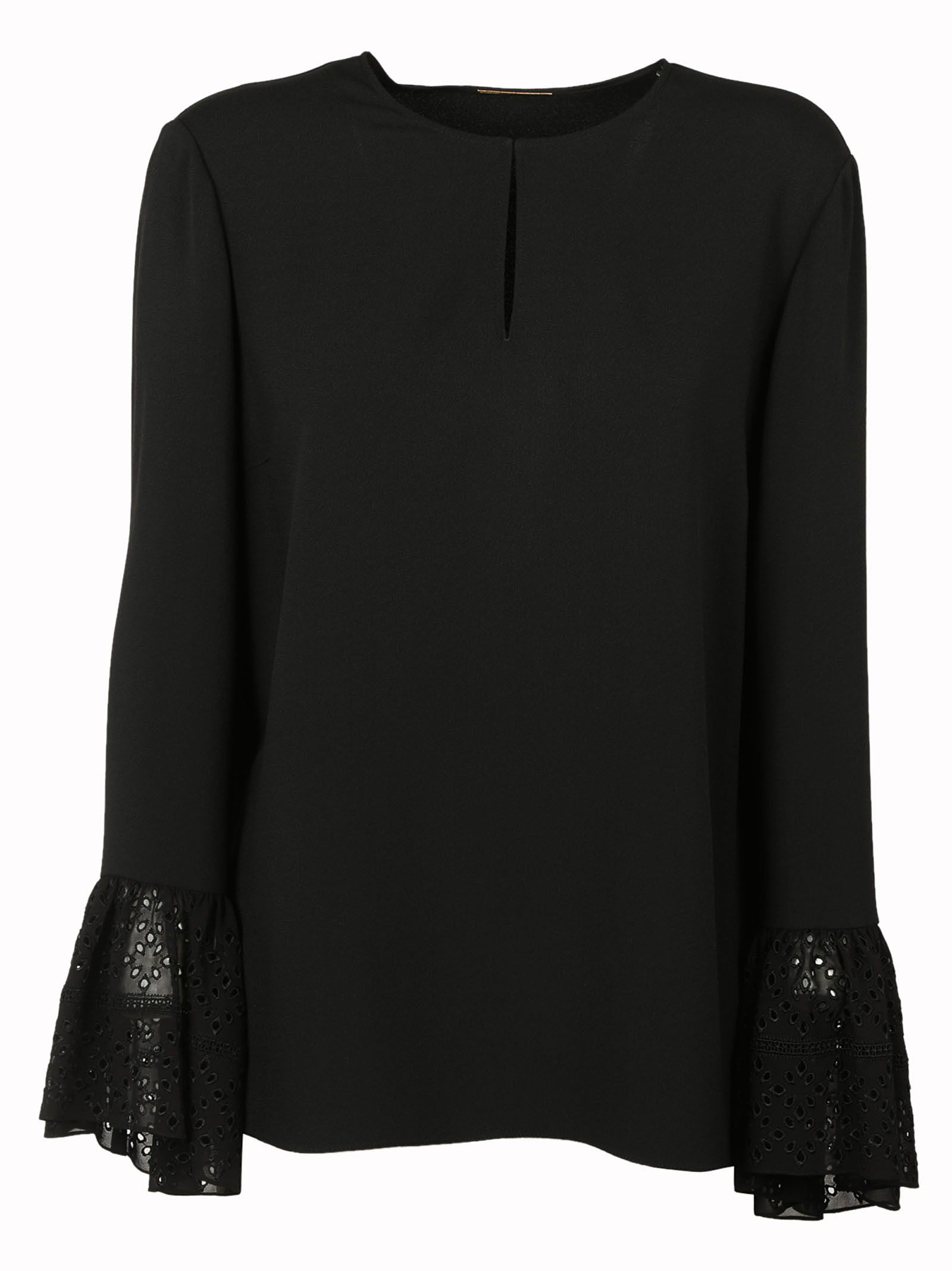 Saint Laurent Lace Cuff Blouse