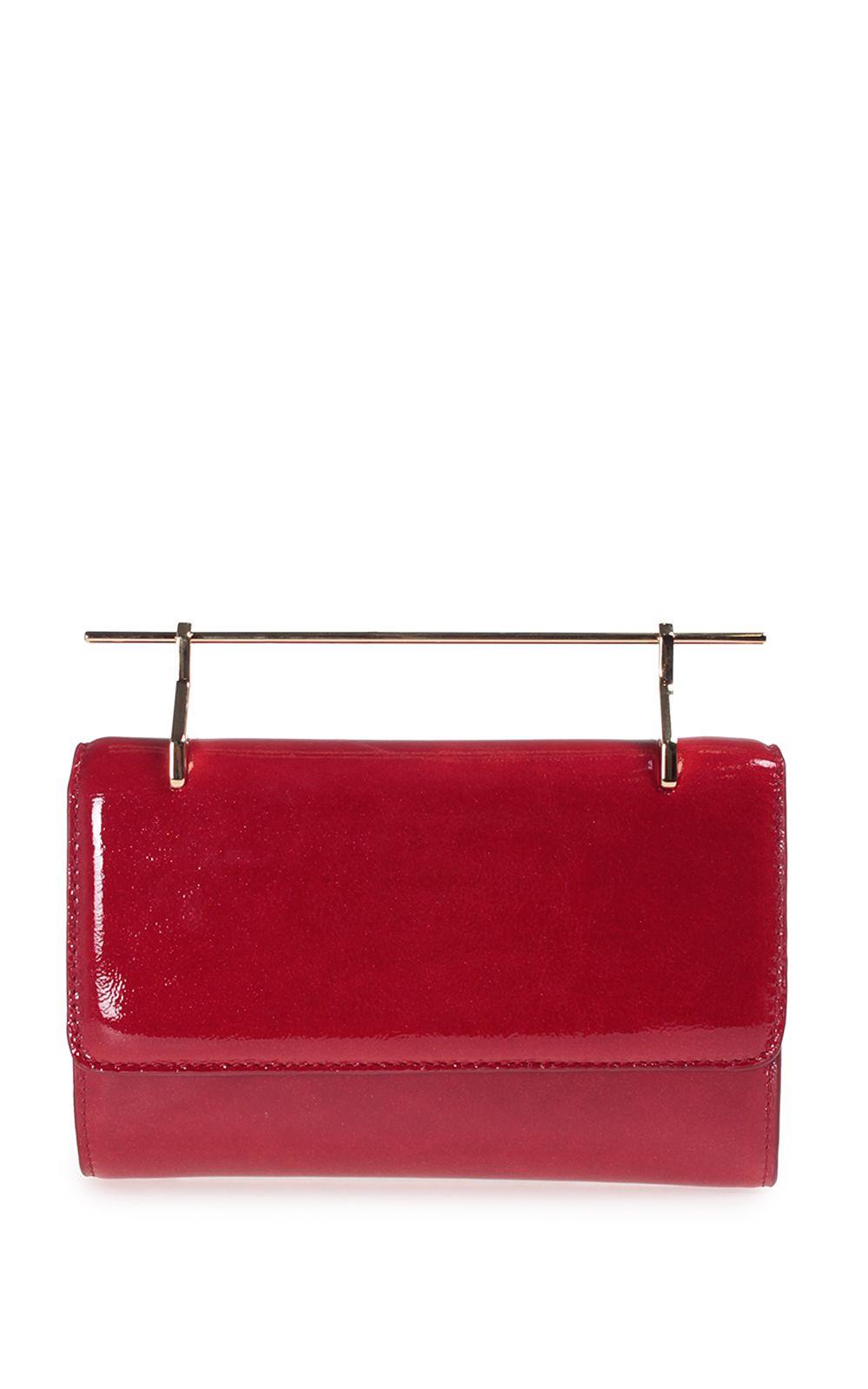 M2Malletier Fabricca Patent-leather Handbag