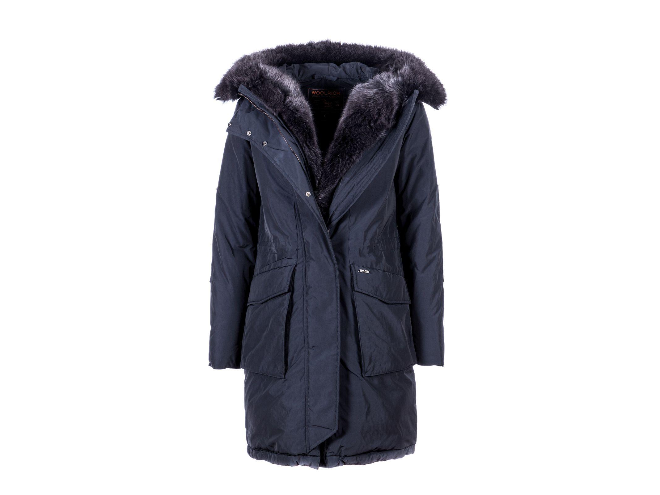 woolrich woolrich hooded military parka new fur blue. Black Bedroom Furniture Sets. Home Design Ideas