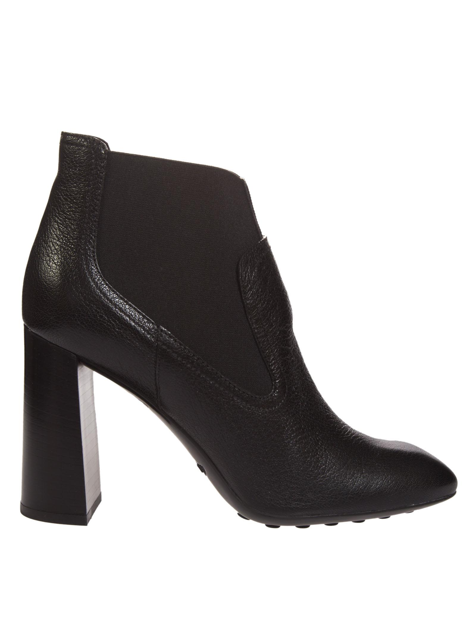 Tods Chunky Heel Ankle Boots