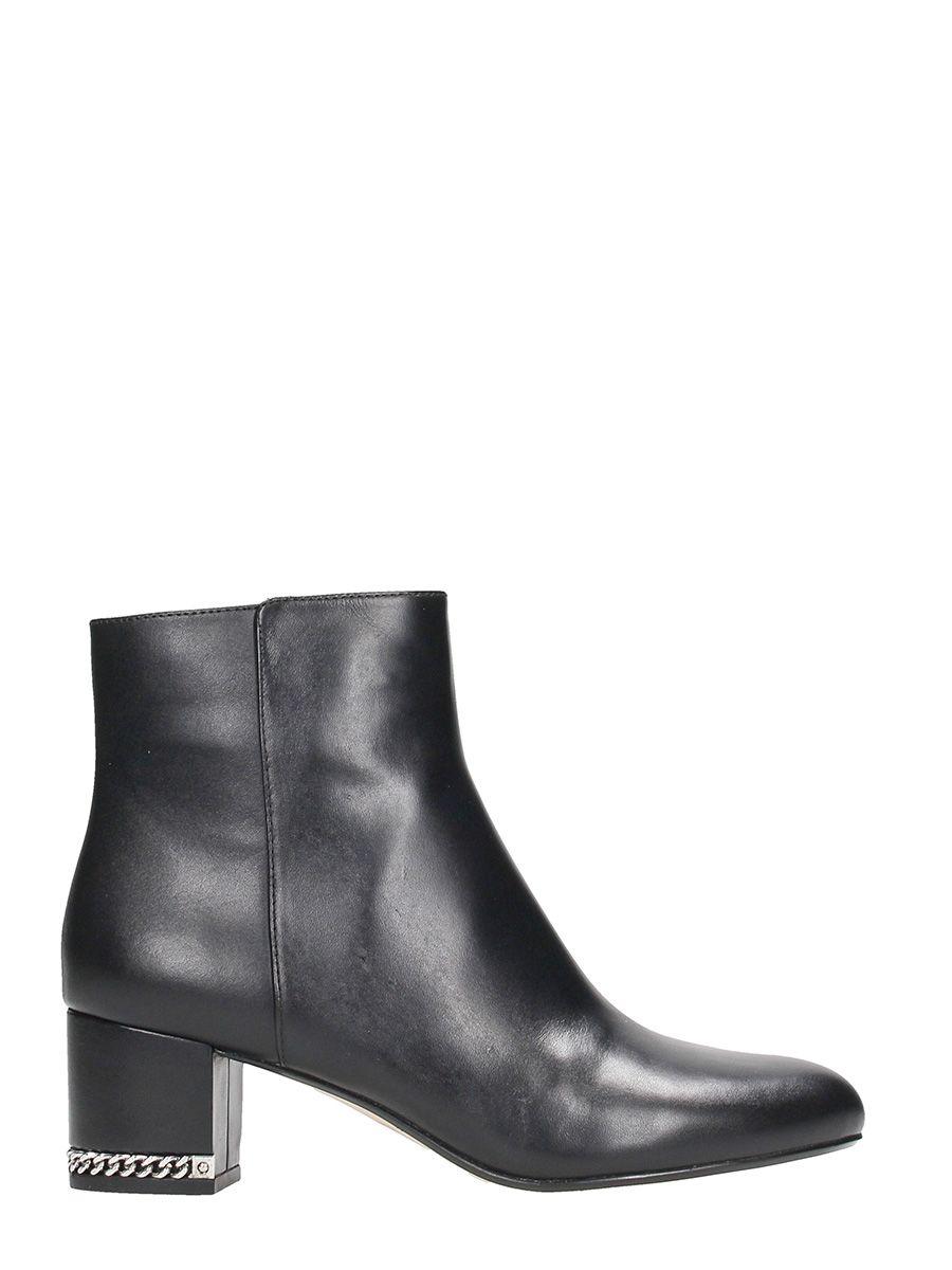 Michael Kors Sarina Mid Black Leather Ankle Boots