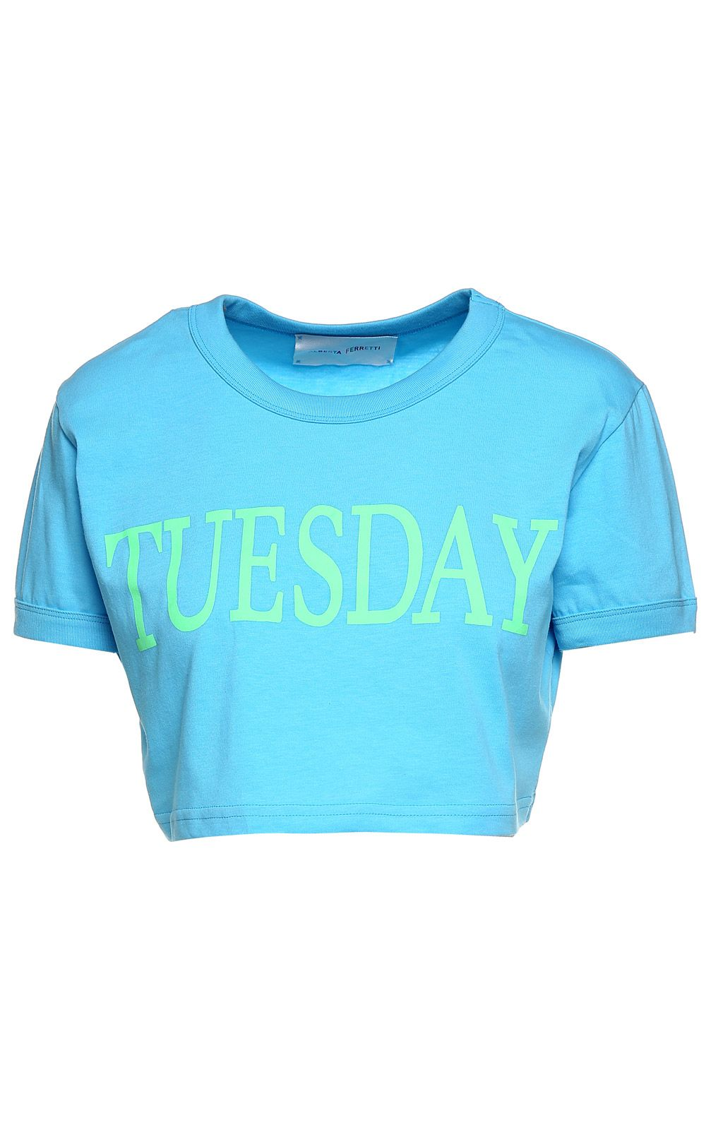 Alberta Ferretti Tuesday Cotton-jersey Cropped T-shirt