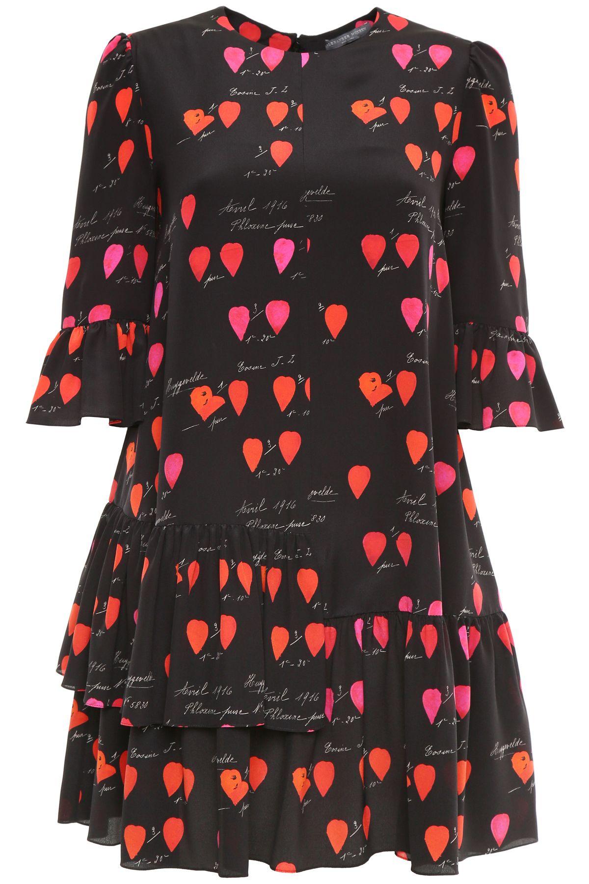 Petal Print Ruffled Dress