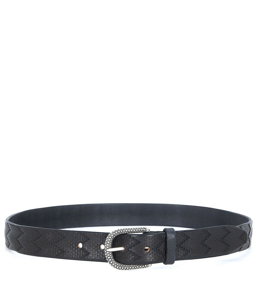 Orciani Lasered Leather Belt