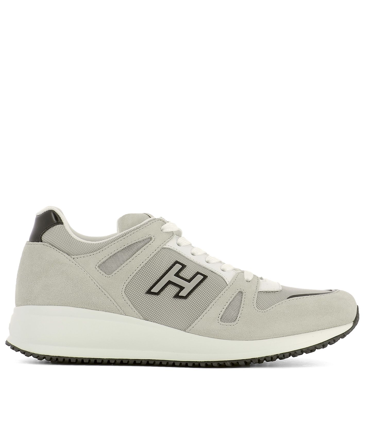 Beige Fabric Sneakers