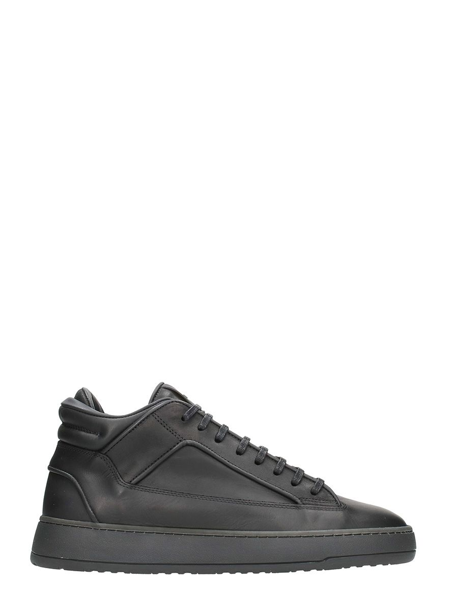 Etq. Mid2 Black Leather Sneakers