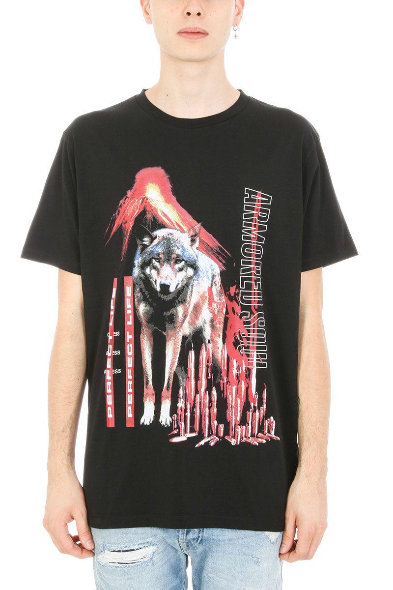 Marcelo Burlon Konken Black Cotton T-shirt