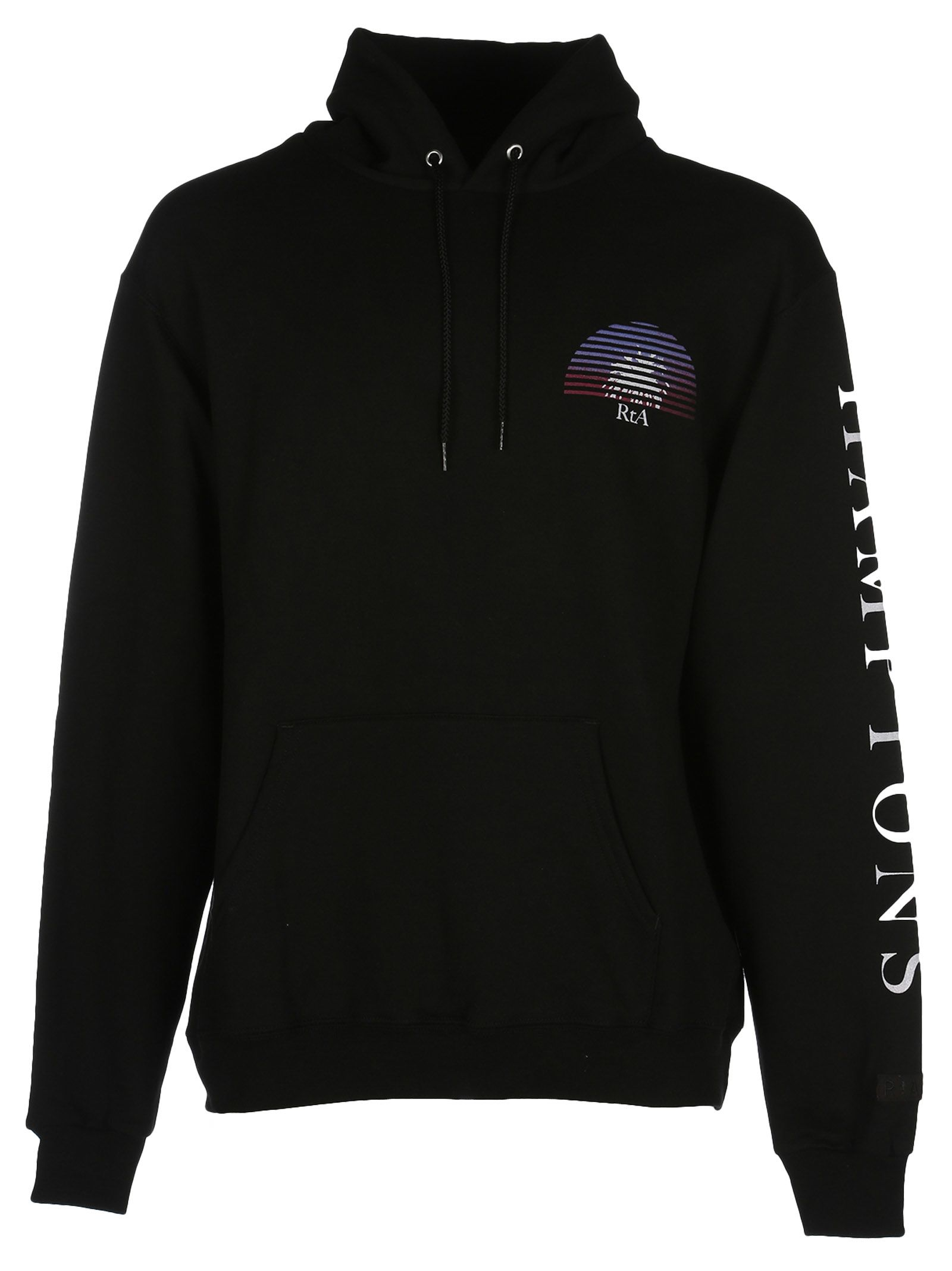 Rta Logo Patch Hooded Sweatshirt