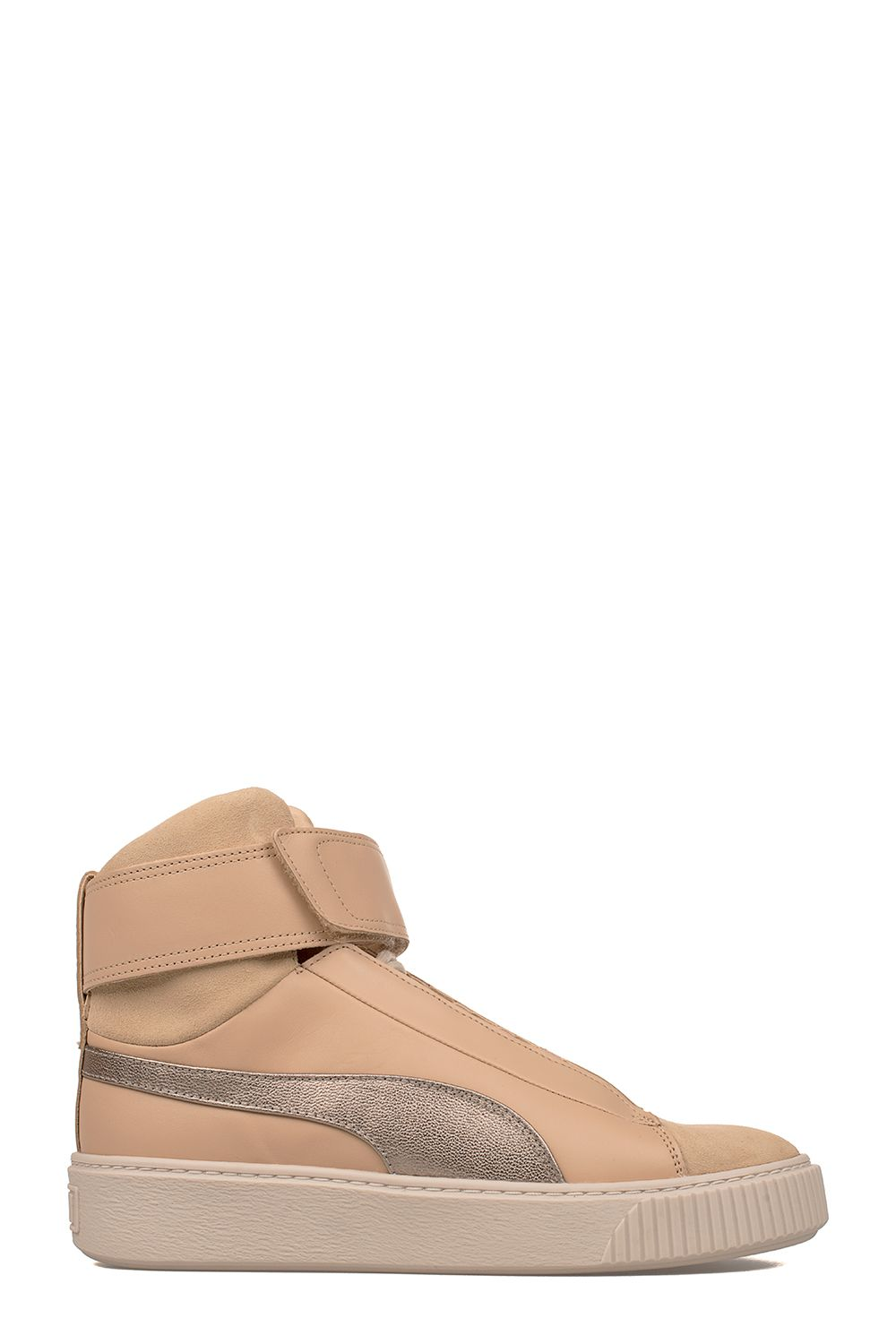 Sand Platform Suede High-top Sneakers