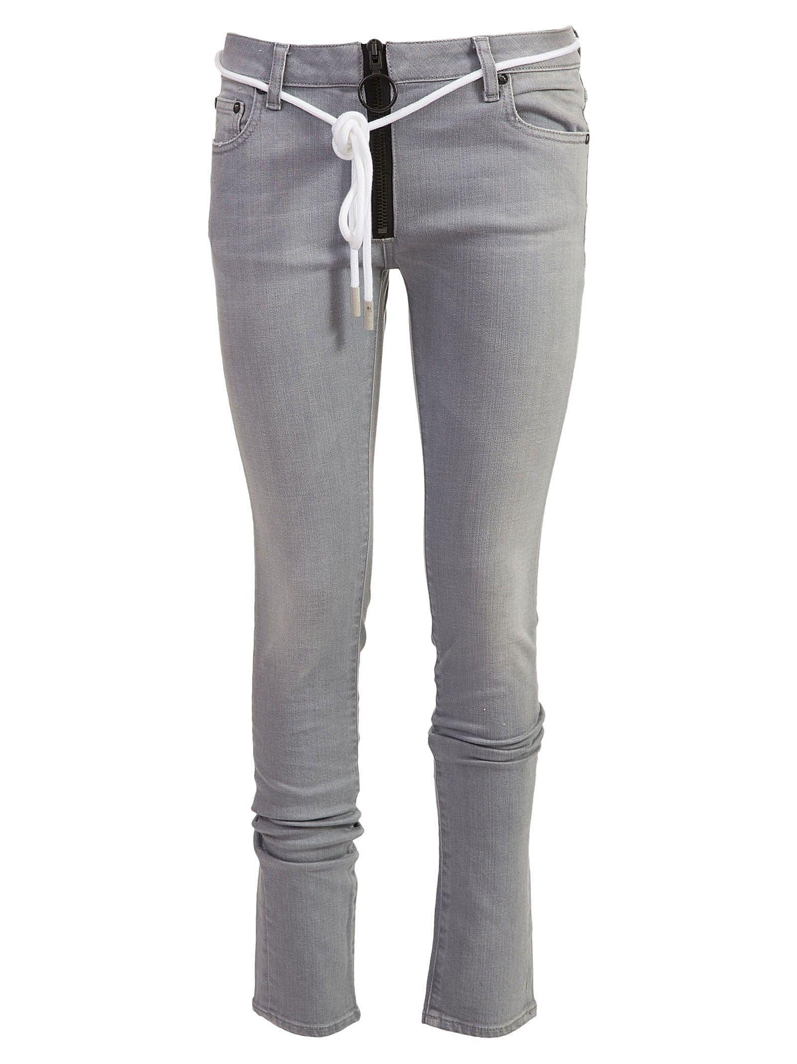 Off-white Striped Trim Jeans