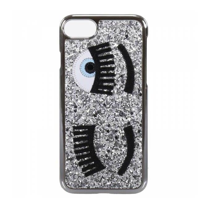 Chiara Ferragni Silver Glitter Eye I-phone 6-6s-7 Case 9662549