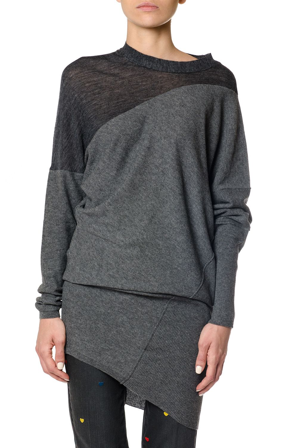 Stella McCartney Wool Blend Alpaca Asymmetric Top
