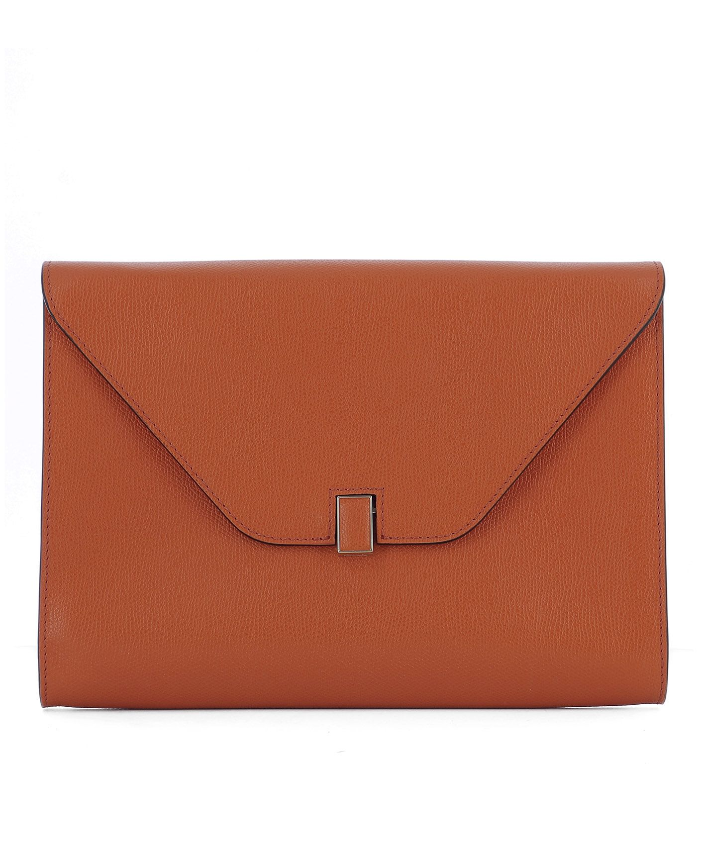 Orange Leather Pochette