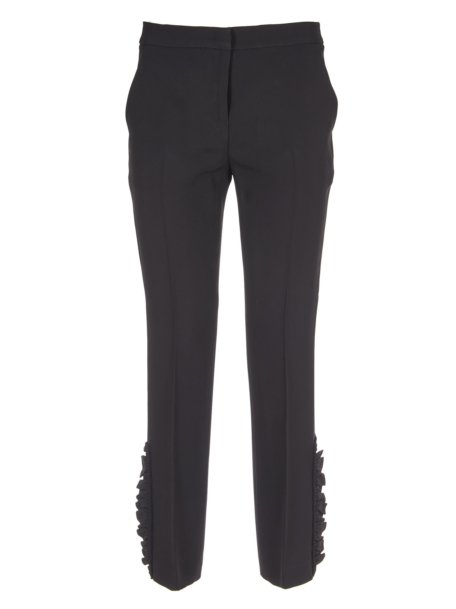 N.21 Ruffle Detail Cropped Trousers
