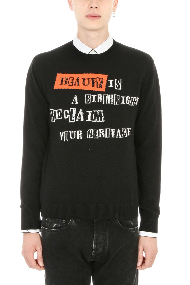Valentino Logo Black Wool Sweatshirt